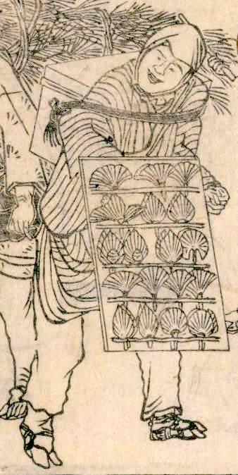 徳利の口飾り売り(『四季交加』より 北尾重政 画)