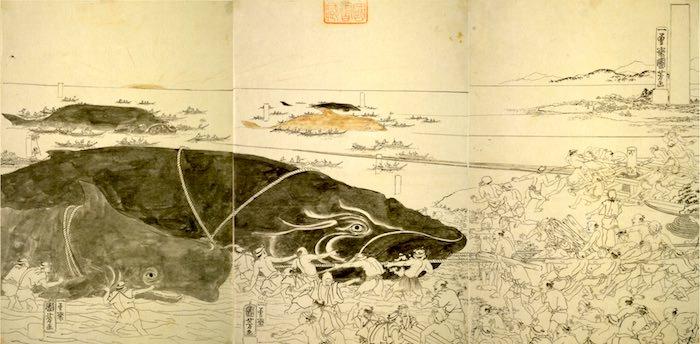 『捕鯨図』(歌川国芳 画)