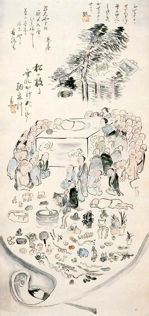 仙厓和尚の涅槃図(斎藤秋圃 画)