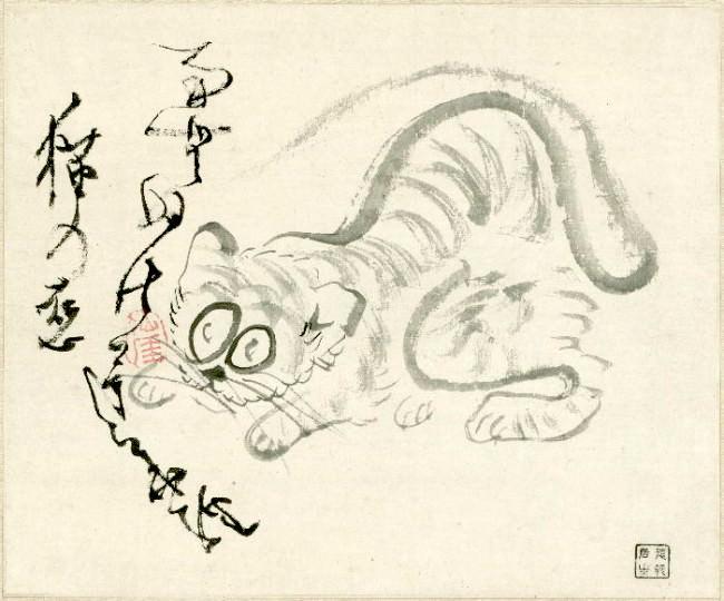 『猫の恋図』 仙厓義梵 画