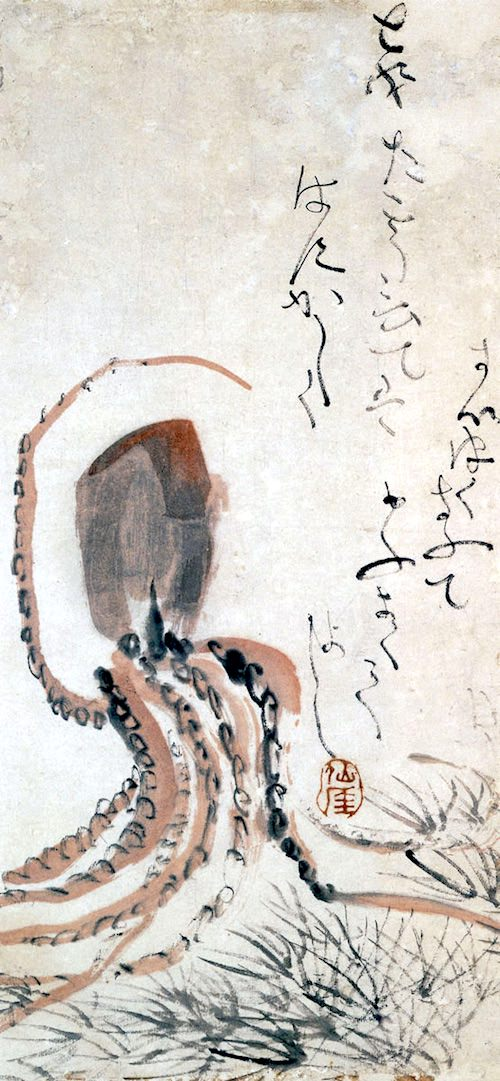 タコ(『章魚図』 仙厓義梵 画)