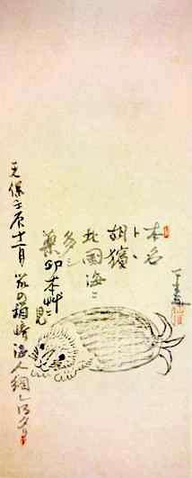 江戸時代、海外に来たトド(『とど画賛』 仙厓義梵 画)