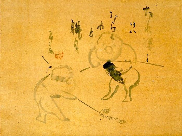 子どもの遊び(『朧月夜図』 仙厓義梵 画)
