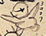 花見に集まった人々-両手を広げて「ヨロコブ」人(『花見画賛』 仙厓義梵 画)
