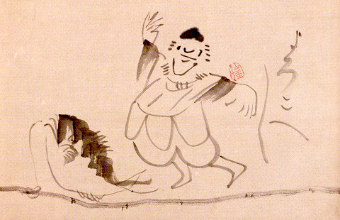 恵比寿さま(『福釣恵比寿画賛』 仙厓義梵 画)