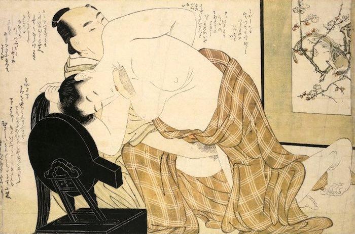 『絵本小町引き』より(喜多川歌麿 画)