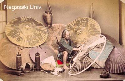 傘張りは武士の内職の定番