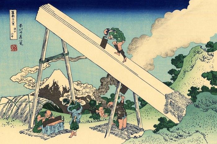 『富嶽三十六景』「遠江山中」(葛飾北斎 画)