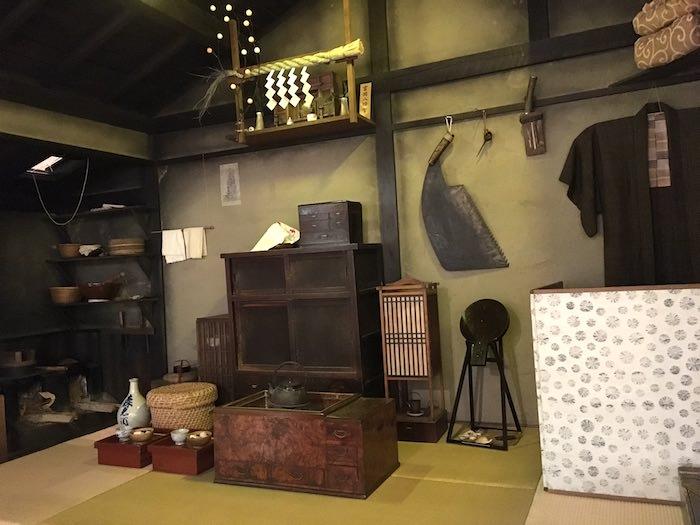 江戸時代の木挽職人が暮らす裏長屋(深川江戸資料館 再現)