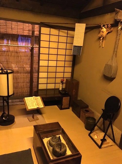 江戸時代の未亡人が住む裏長屋の様子(深川江戸資料館 再現)