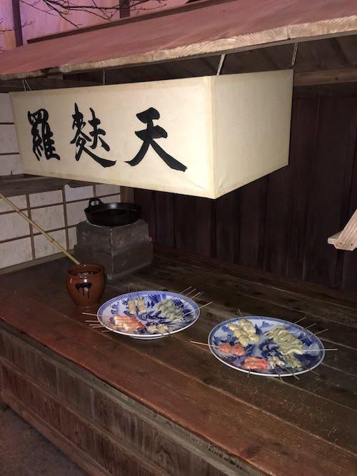 江戸時代のてんぷら屋(深川江戸資料館 再現)