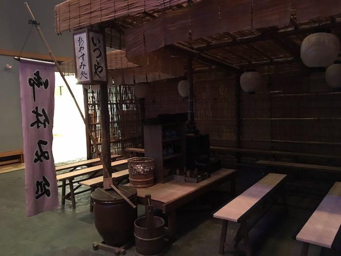江戸時代の水茶屋(深川江戸資料館 再現)