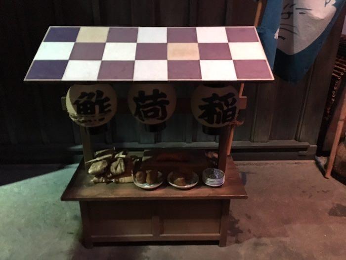 いなり寿司の屋台(深川江戸資料館 再現)