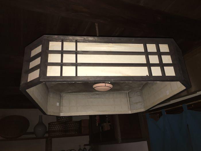 八間は船宿や料理屋、遊郭で使われた照明器具(深川江戸資料館 再現)
