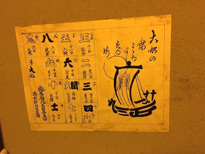 大小暦とは江戸時代のカレンダー(深川江戸資料館 再現)