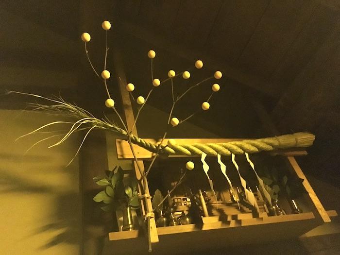 繭玉というお正月飾り(深川江戸資料館 再現)
