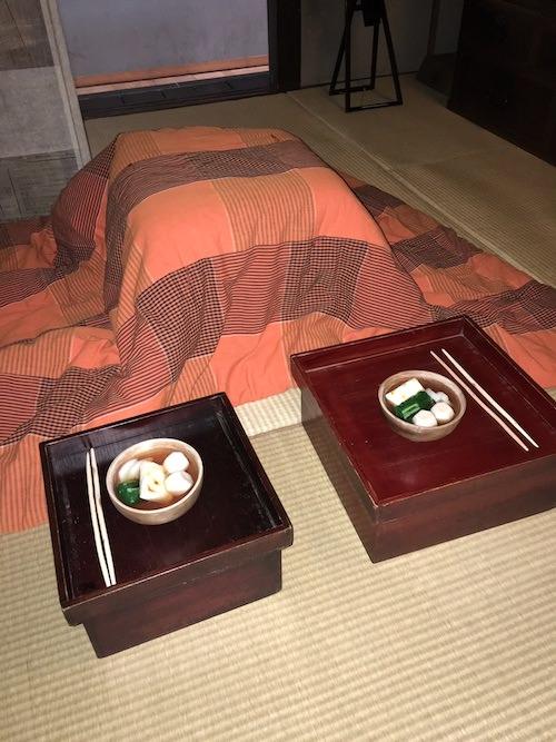 江戸時代のコタツ(深川江戸資料館 再現)