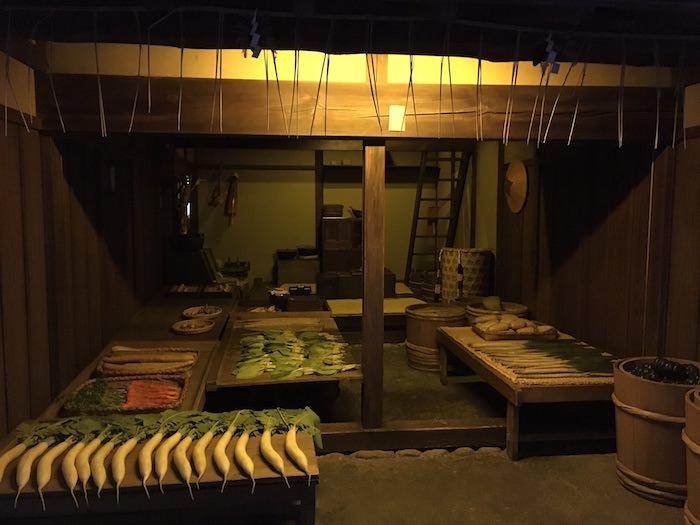 江戸時代の八百屋(深川江戸資料館 再現)