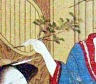 柊鰯(『婦女風俗十二月』「節分」勝川春章 画)