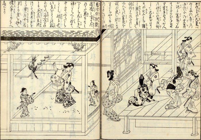 江戸時代の節分(『日本風俗図絵』より)