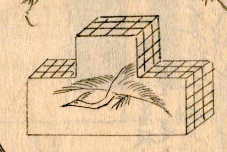 元禄時代の白粉屋の看板(『守貞漫稿』より)