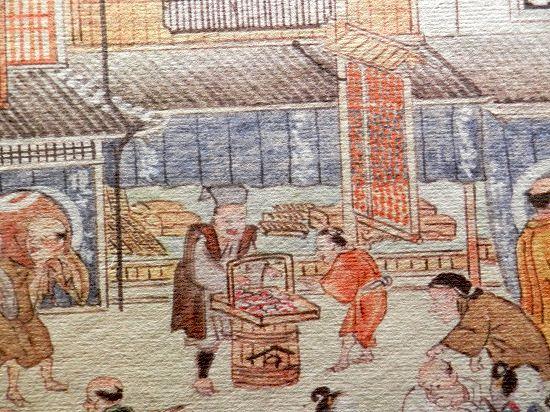 江戸時代のソロバン問屋の看板(『熈代勝覧』部分)