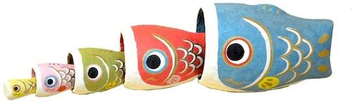 張子の鯉のぼり