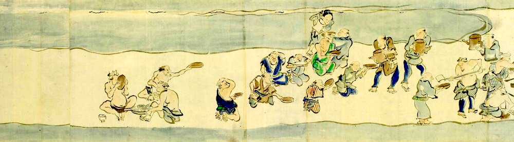 江戸時代の大酒飲み大会、千住酒合戦のようす(拡大画像)