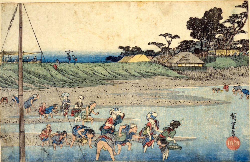 『江都名所 洲崎しほ干狩』(歌川広重 画)の拡大画像
