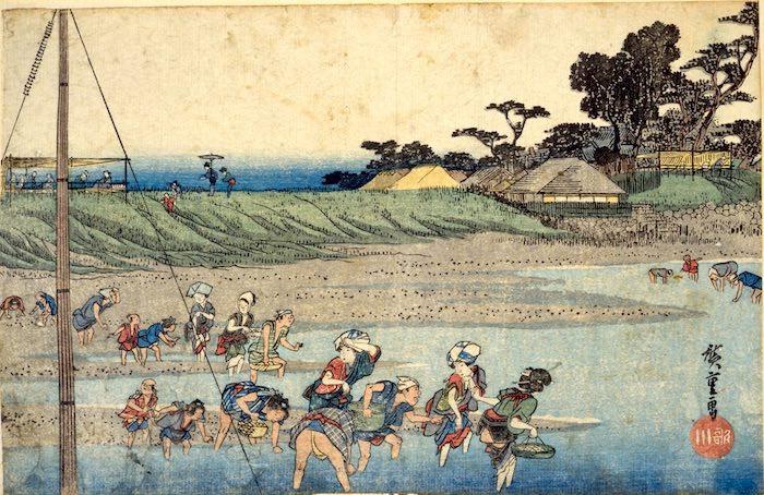 『江都名所 洲崎しほ干狩』(歌川広重 画)