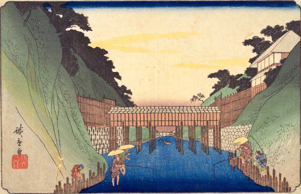 『東都名所 御茶之水之図』(歌川広重 画)の拡大画像