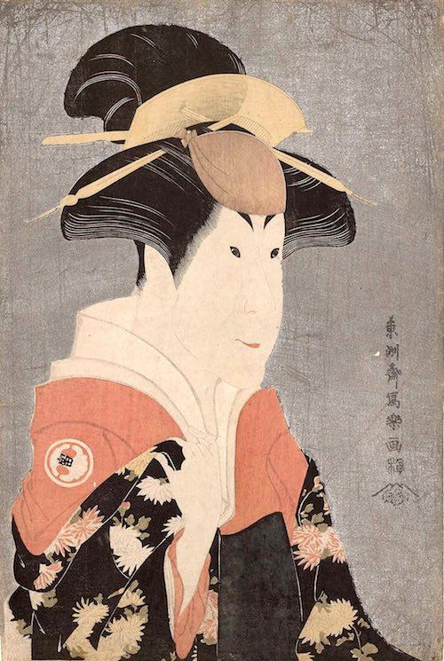 二代目瀬川富三郎の大岸蔵人妻やどり木(東洲斎写楽 画)