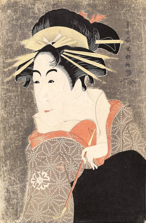 松本米三郎のけはい坂の少将実はしのぶ(東洲斎写楽 画)