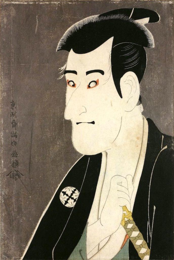 三代目市川高麗蔵(こまぞう)の志賀大七(東洲斎写楽 画)の拡大画像
