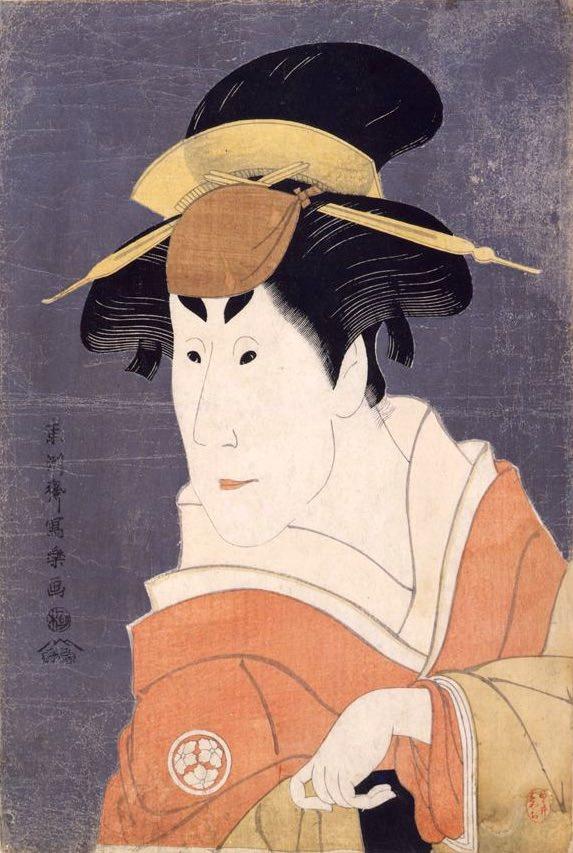 二代目小佐川常世(おさがわつねよ)の竹村定之進の妻・桜木(東洲斎写楽 画)の拡大画像