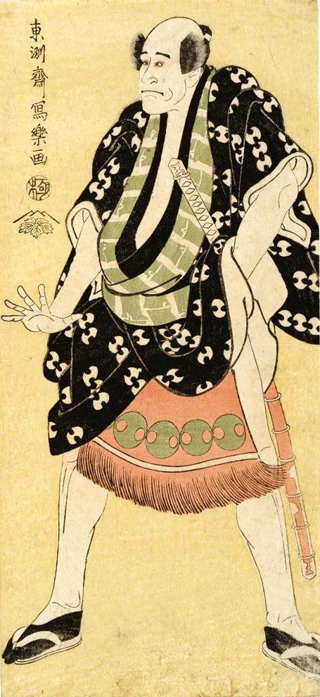 嵐龍蔵の奴浮世又平(東洲斎写楽 画)