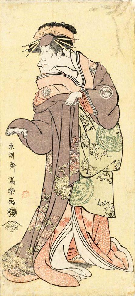三代目瀬川菊之丞の傾城かつらぎ(東洲斎写楽 画)