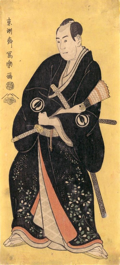 三代目沢村宗十郎の名護屋山三(東洲斎写楽 画)