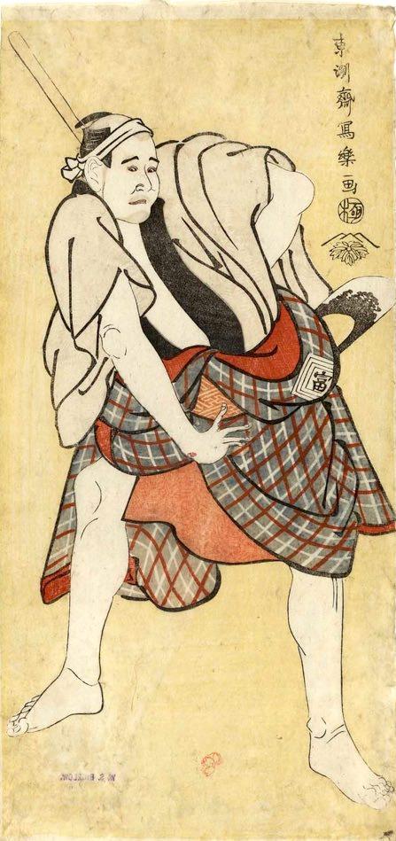 市川富右衛門の猪の熊門兵衛(いのくまもんべえ)(東洲斎写楽 画)