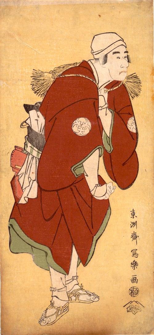 二代目坂東三津五郎の百姓深草治郎作(東洲斎写楽 画)