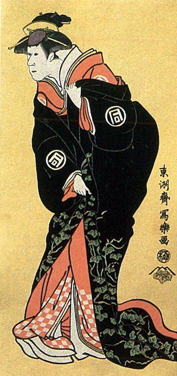 三代目佐野川市松の不破伴左衛門妻関の戸(東洲斎写楽 画)