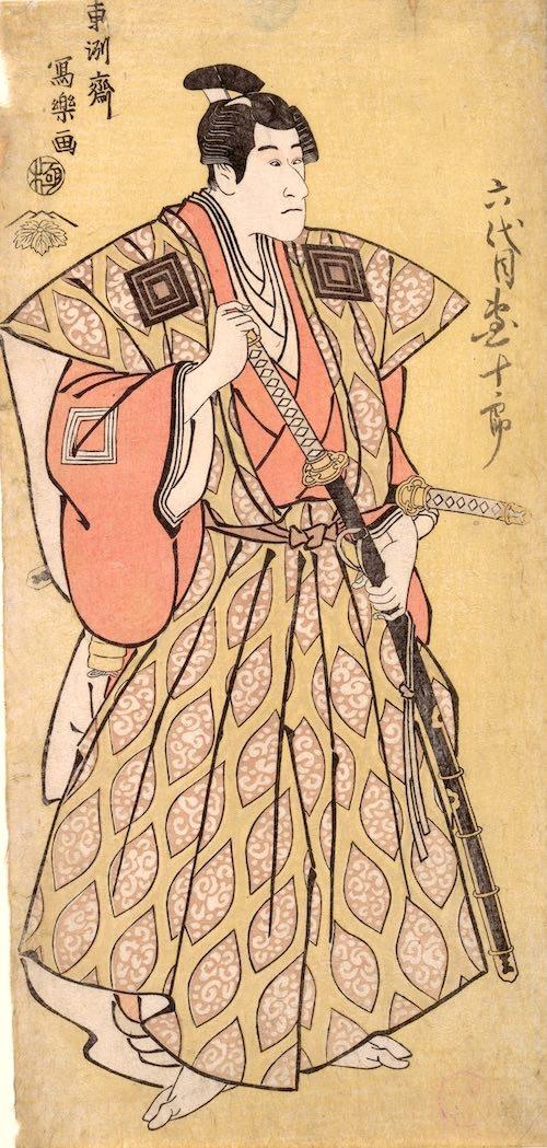 六代目市川団十郎の不破伴作(ばんさく)(東洲斎写楽 画)