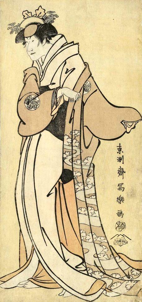 初代中山富三郎の義興妻つくば御前(東洲斎写楽 画)