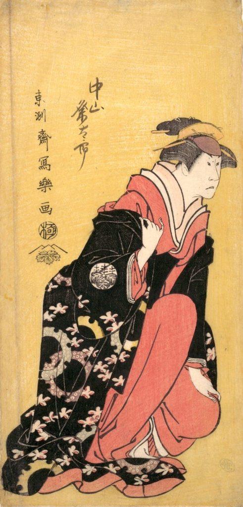 二代目中村粂太郎(くめたろう)の由良兵庫之介妻みなと(東洲斎写楽 画)の拡大画像
