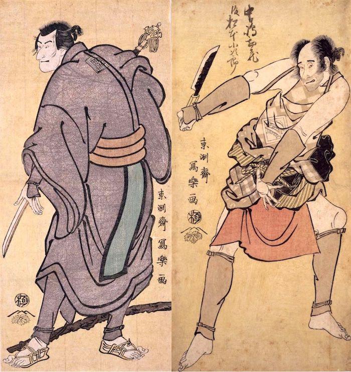 南瀬六郎と長蔵の比較(東洲斎写楽 画)