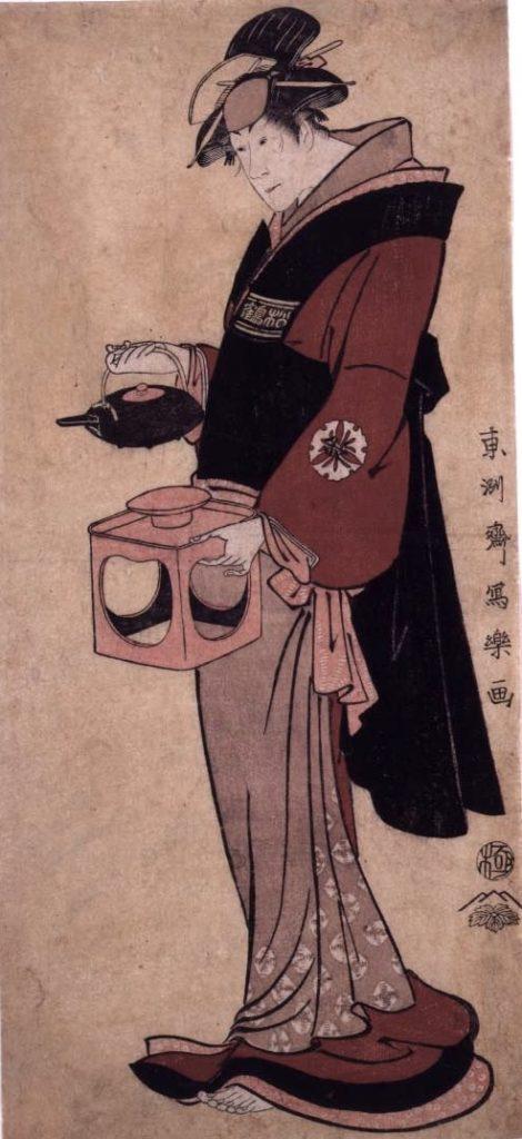 松本米三郎の仲居おつゆ(東洲斎写楽 画)