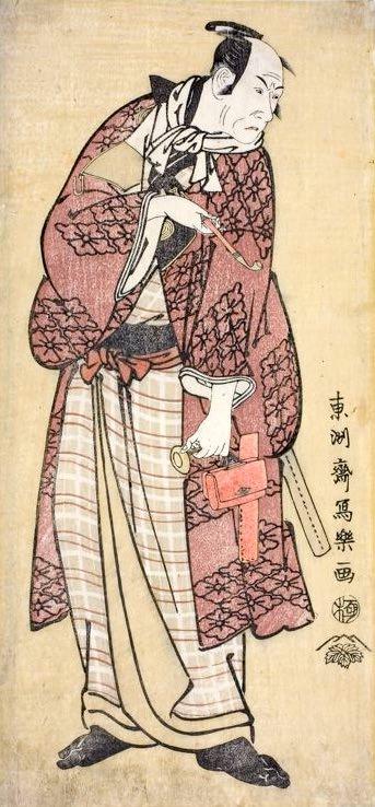 四代目松本幸四郎の新口村(にのくちむら)孫右衛門(東洲斎写楽 画)