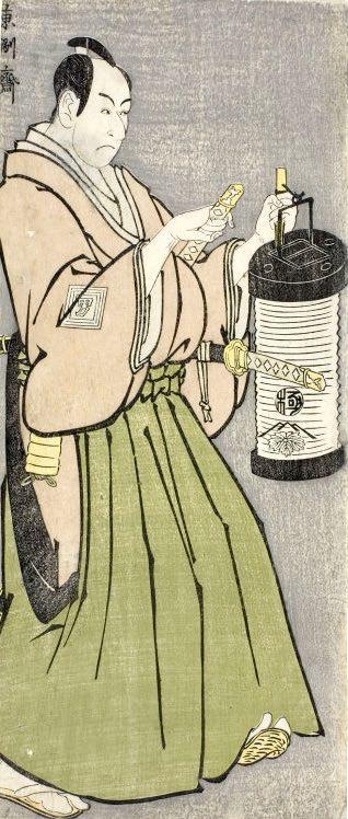 市川男女蔵(おめぞう)の富田兵太郎(東洲斎写楽 画)