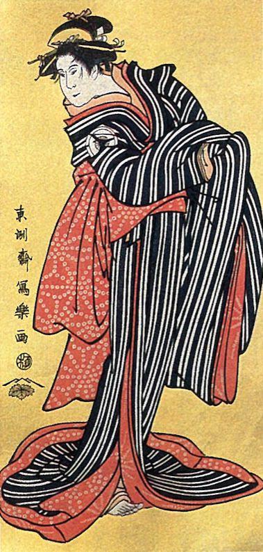 四代目岩井半四郎の信濃屋お半(東洲斎写楽 画)