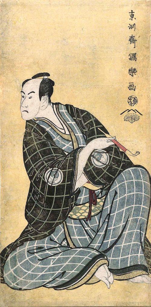 三代目坂東彦三郎の帯屋長右衛門(東洲斎写楽 画)